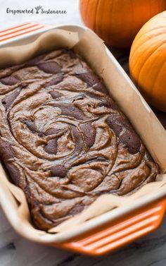 Paleo Pumpkin Swirl Brownies