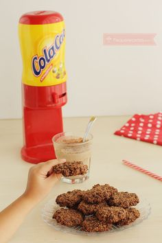 Galletas de avena y Cola Cao