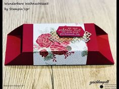 Christmas Time Is Here, Christmas Diy, Stampin Up, Big Shot, Diy And Crafts, Decorative Boxes, Finger, Petra, Catalog