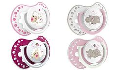 LOVI Dynamic silicone teether Night & Day (6-18 months) x 2 pieces 22/811 girl UK