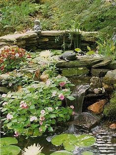 Renae Moore Designs: Gardening with Tara Dillard Landscape Design, Garden Design, Jardin Decor, Porch Plants, Pond Fountains, Water Features In The Garden, Fish Ponds, Ponds Backyard, Dream Garden