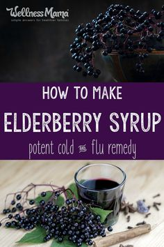 Elderberry Syrup is an effective and healthy remedy against colds and flu. It… Elderberry Syrup is an effective and healthy remedy against colds and flu. It's easy and inexpensive to make at home and kids actually like the taste! Flu Remedies, Herbal Remedies, Health Remedies, Bloating Remedies, Allergy Remedies, Cooking With Turmeric, Wellness Mama, Natural Home Remedies, Crockpot