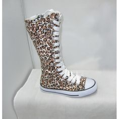 """Official Penelope Wildberry!  Leopard high top sneakers.     Canvas upper, rubber sole. Approx. 8""""-9"""" tall.     These are as shown. Comes with White and Black laces"""