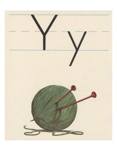 Y is for yarn Giclee Print - Another knitting poster I love.  I have this one hanging in my stairwell.