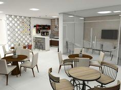 Salão de festas e Bar Condomínio Residencial  Fortaleza -Ce Projeto Auri Deusdará  Interiores