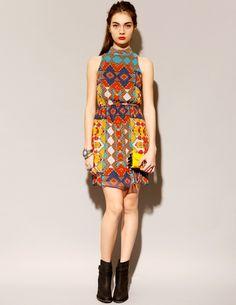 print dress halter full fr
