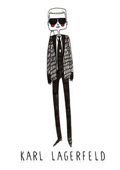Karl Lagerfeldfashion illustration fashion by diarysketches, $11.00