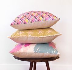 Bed Pillows, Cushions, Beautiful Mess, Cushion Cut, Cotton Linen, Pillow Cases, Mustard, Crystal, Collection