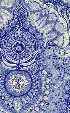 Blue pattern; use on henna