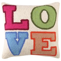 Colorful L.O.V.E. Hook Pillow #laylagrayce
