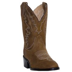Dan Post Shane Toddler Cowboy Boots All Tan Distressed Leather