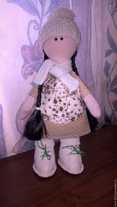 Купить Снежная девочка - Снежка, большеножка, большеногая кукла, снежная девочка, кукла ручной работы