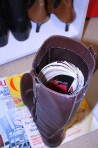 magazine-in-boots and other free ways to organize