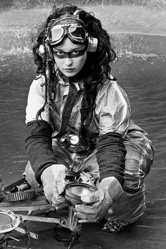 Awesome diver girl