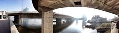 https://flic.kr/p/jRSUdp | Under the May bridge, Cairo | The River Nile viewed from under the 15th May bridge as it leave Zamalek heading East towards downtown Cairo