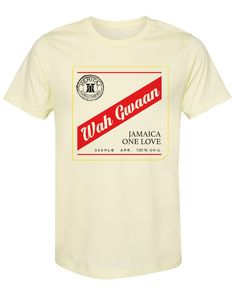JAMAICA-WAH GWAAN - X-Large / 60% COTTON 40% POLYESTER SUEDED JERSEY / Pale Yellow