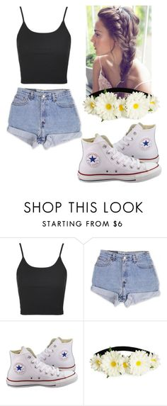 """""""Casual Outfit"""" by pandagirl2102 ❤ liked on Polyvore featuring Topshop, Levi's, Converse and H&M"""