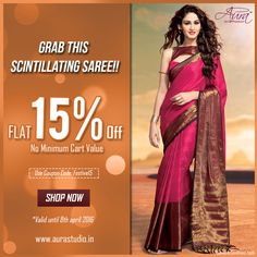 Fuchsia Pink with exhilarating brown border is the perfect attire for this Holi Dhakan. Dress yourself up in this statement saree from collection having exquisite color fusion. Shop now : www. Girl Fashion, Fashion Show, Fashion Dresses, Fashion Design, Fashion Hashtags, Trendy Sarees, Saree Shopping, Party Wear Sarees, Saris