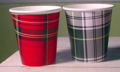 Tartan Plaid Hot/Cold Paper Party Cups - Set of 12 via Etsy