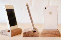 iPhone 4 5 Dock Handmade from Oak por FactoryTwentyOne en Etsy