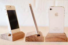 iPhone 4 5 6Dock Handmade from Oak by FactoryTwentyOne on Etsy