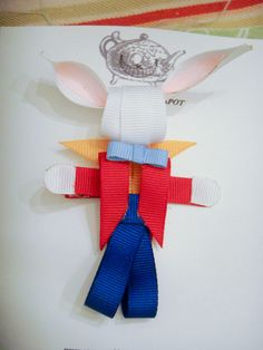 Disney White Rabbit Ribbon Sculpture Hair by maryellenaliperti, $6.00