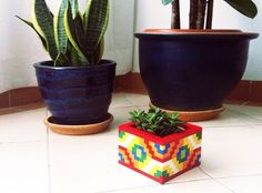 21 Insanely Cool DIY LEGO Furniture and Home Decor Creations: #13 LEGO planter