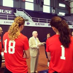 Bill Snyder talked to #KStateVB before practice as they prepare for the World University Games in Russia this summer as a part of Team USA!