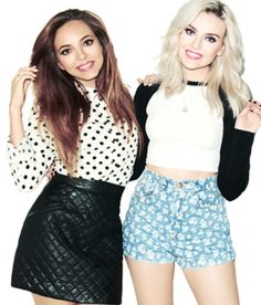 Jade Thriwall and Perrie Edwards - love their clothes! Little Mix Style, Little Mix Girls, Skirt Outfits, Cute Outfits, Jessy Nelson, Black And White T Shirts, Perrie Edwards, Spice Girls, Girl Bands