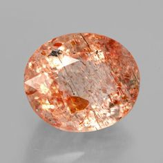 faceted oval sunstone.