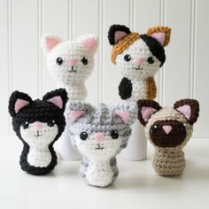 Swat Team Kitties Crochet Amigurumi Pattern, 4 inch