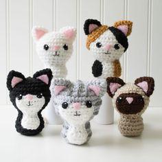 Swat Team Kitties Crochet Amigurumi Pattern, 4 inch