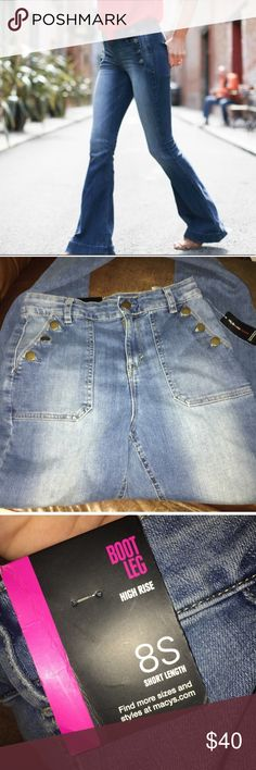 Style & Co Sailor Style Jeans Pants Size 8 Short Style & Co Sailor Style Jeans Pants Size 8 Short , brand new with tags- boot leg Style & Co Jeans Boot Cut