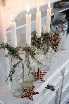 Cristal y velas para iluminar la Navidad