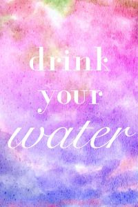 This is your reminder to drink your water! Set this image as your desktop background to remember! Lots of other creative ways to remember to drink enough water on this site.