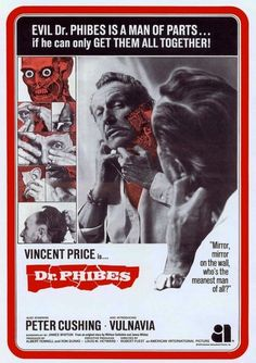Dr. Phibes (Rare Version)(1971): Vincent Price getting himself together was a wonderful spectacle at the drive-ins
