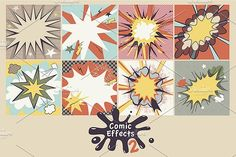 Comic Effects 2 by Darish on @creativemarket