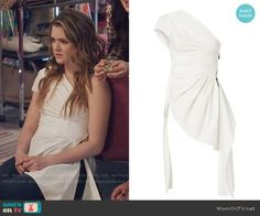 Matecevski Persuasive One Shoulder Top worn by Meghann Fahy on The Bold Type