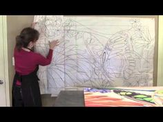 Creating Two Silk Paintings With One Continuous Design.  Pamela Glose, January 2014 video blog.