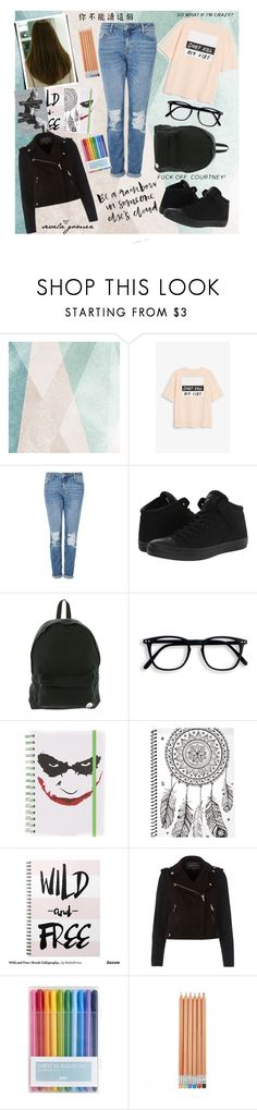 """I hate school."" by sequiagomez ❤ liked on Polyvore featuring Sandberg Furniture, Monki, Topshop, Converse, Roxy and River Island"