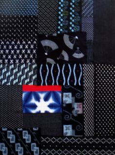Japanese fabric pack Vintage  Indigo dyed remnant by klektik