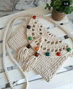 De Croche De Croche barbante De Croche com grafico De Croche de mao De Croche festa - Bolsa De Crochê Crochet Purse Patterns, Crochet Pouch, Crochet Amigurumi, Crochet Stitches, Crochet Handbags, Crochet Purses, Love Crochet, Knit Crochet, Knitted Bags