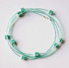 Ceramic , Acrylic and Quartz beads Necklace or Bracelet, Sterling Silver £15.00
