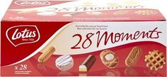 "Lotus 28 moments #assortiment 989gr LOTUS ""28 Moments"" assortiment, chaque paquet contient une séléction de #patisseries de LOTUS. 28 unités emballées individuellement. Accéder au produit sur www.chockies.net Biscuits, Lotus, My Love, Drinks, Food, Belgian Waffles, Crack Crackers, Drinking, Cookies"