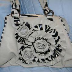 zebra flower purse at the Shopping Mall, $40.00 (USD)