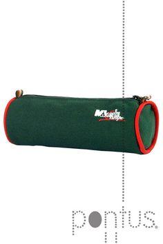 Estojo redondo Montecampo MC510 verde esc 20x7x7cm | JB