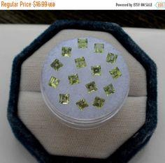 ON SALE 15 Peridot Square Natural Gems 3mm by pinnaclediamonds