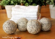 wool dryer balls- cut drying time by 25 to 50% and eliminate fabric softener