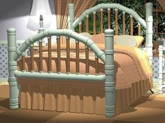 Queen Platform Bed Plans - Bed Furniture Plans - Four Poster Bed Plans - Perfect for Memory Foam Mattress or Air Bed - No Box Spring - Handsome Victorian Style Pvc Pipe Crafts, Pvc Pipe Projects, Home Projects, Pvc Pipe Furniture, Car Furniture, Platform Bed Plans, Bed Platform, Pipe Bed, Steampunk Furniture