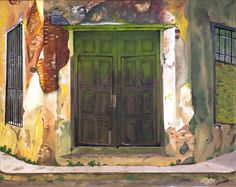 """Oil painting titled """"Fading Cuba"""", done on a 16"""" x 20"""" x 1.5"""" canvas. SOLD"""